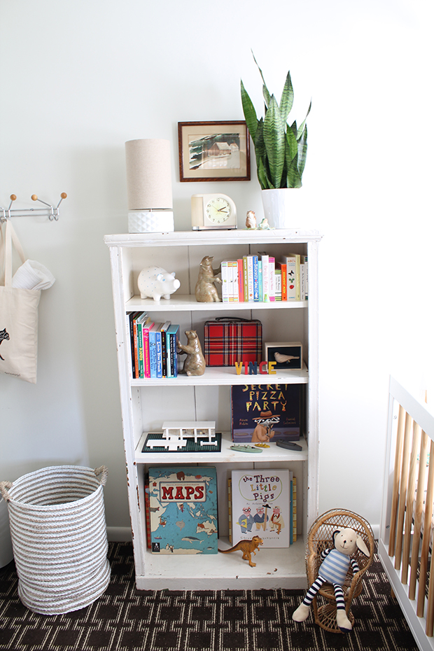 boy nursery room decor shelf styling ideas