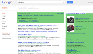 screenshot of Google search results