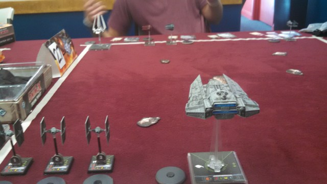 Soontir takes flanking position while the rest of the squadrons line up to joust