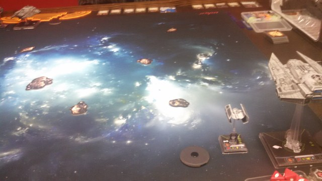 The first of two Empire-on-Empire matches. Which one of my opponent's ships would present itself as a target?