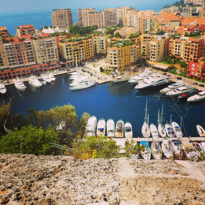 Monaco marina below the Grimaldi castle