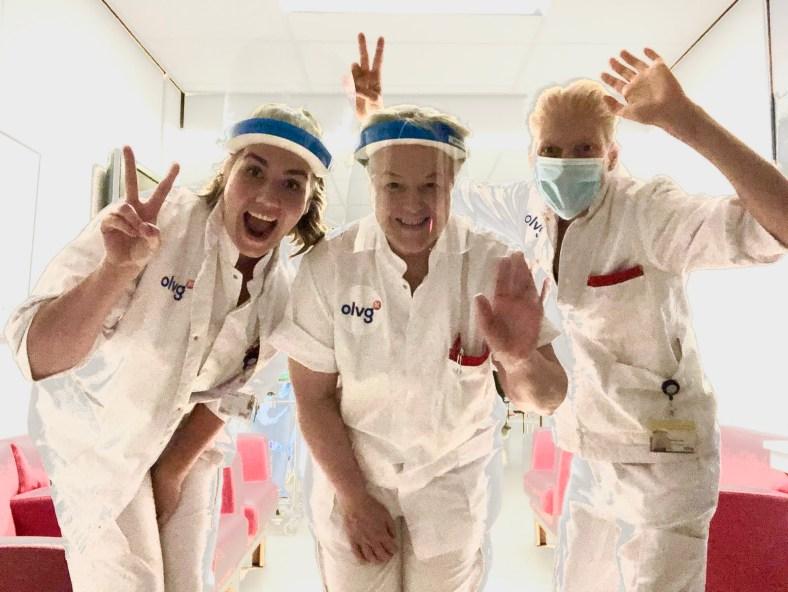 My nurses at OLVG Hospital are STILL in my corner!