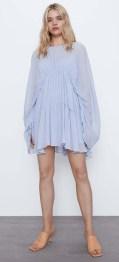 ZARA Draped Pleated Dress