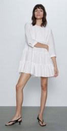 ZARA Textured Wave Dress
