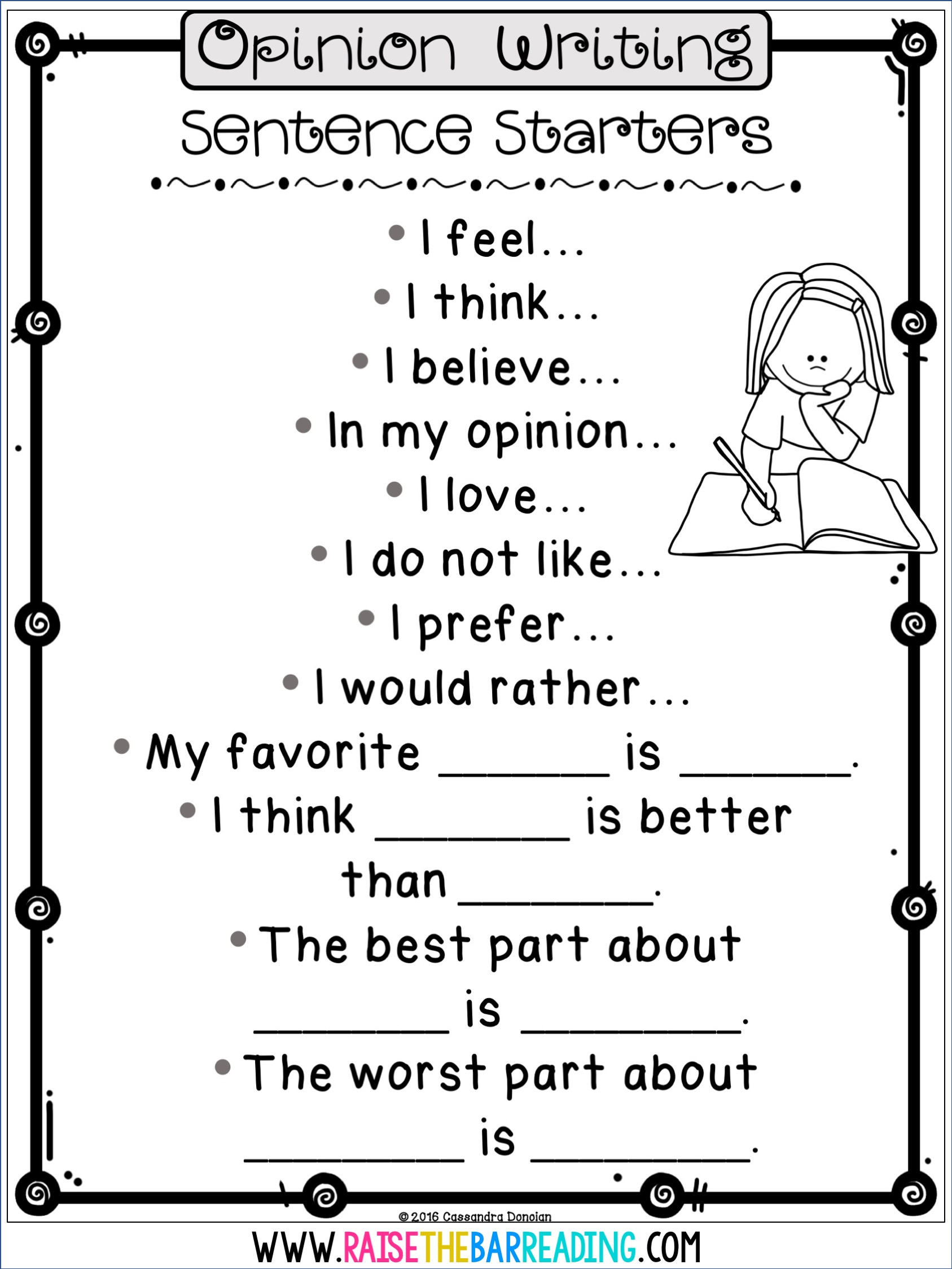 How I Teach Opinion Writing In The Primary Grades