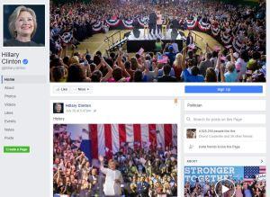 Hillary Clinton FB Page