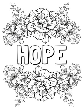 Free Hope Coloring Pages To Encourage You Raise Your Sword