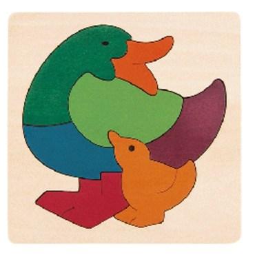 Rainbow vormenpuzzel Duck