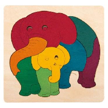 Rainbow vormenpuzzel Elephant