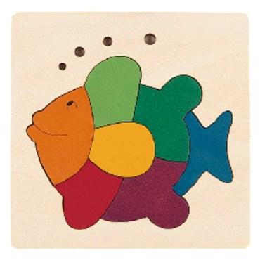 Rainbow vormenpuzzel Fish