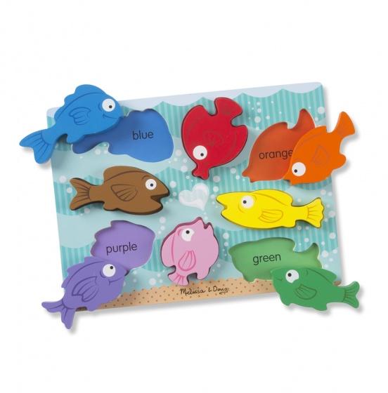 Kleurijke vissen puzzel