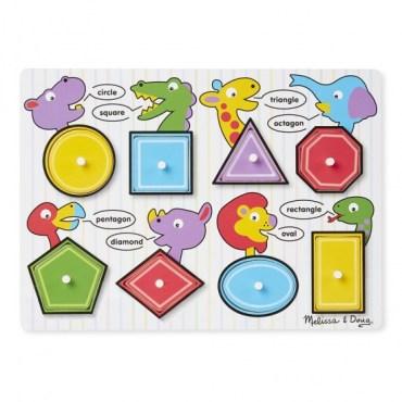 Geometrische puzzel Engels