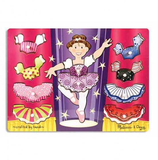 Houten puzzel ballerina