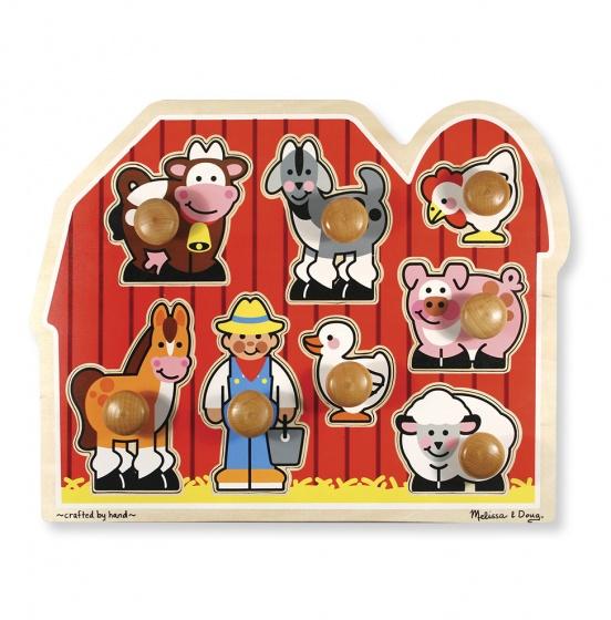Houten puzzel boerderij 8-delig