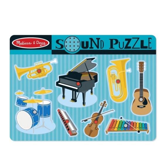 Houten Muziekinstrumenten puzzel