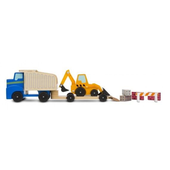 vrachtwagen en dieplader