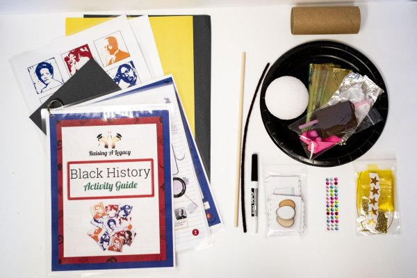 Black History Box Activities Close up