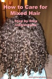 Mixed Hair | care for mixed hair | biracial hair care | frizz free mixed hair | curly biracial hair |
