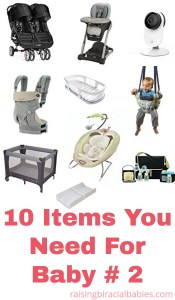 second baby | top items to get for baby number two | registry items for second baby | what to get for your second baby | top items for baby number two