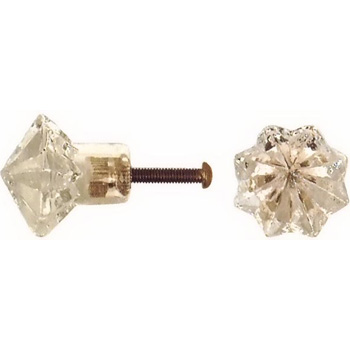 Crystal Shaped Glass Knobs
