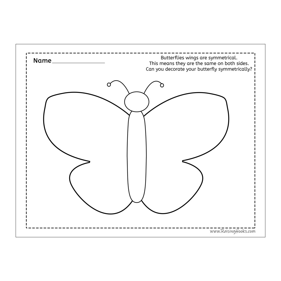 Decorate Your Butterfly Symmetrically