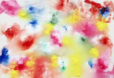 Mess-Free Toddler Activity – Cling Wrap Painting