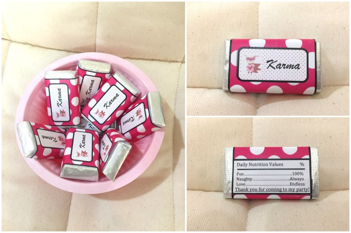 DIY Personalised Chocolate or Candy Bar Wrappers