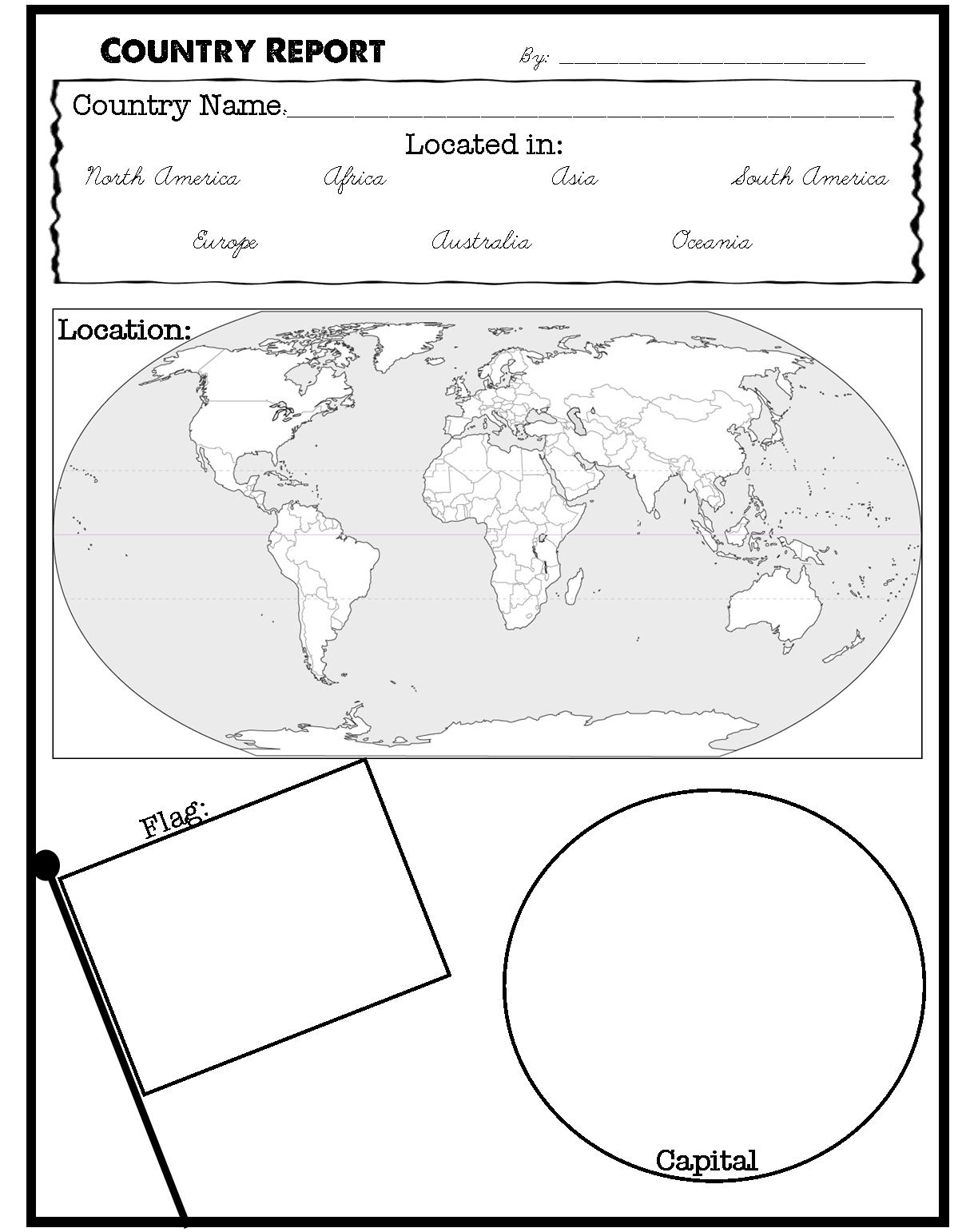 country report printable