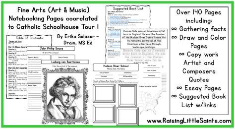 Fine Arts Notebooking Pages CSH T1
