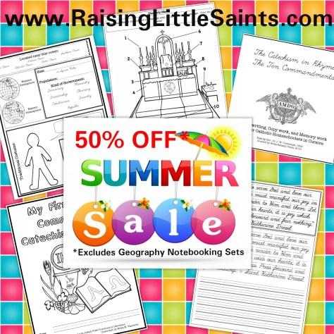 Raising teaching little saints catholic homeschooling just use coupon code rlssummer50 fandeluxe Choice Image