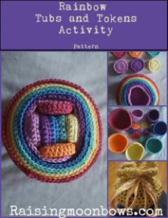 Rainbow Tubs and Tokens Crochet Pattern