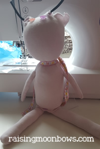 making a butterfly doll - outer layer