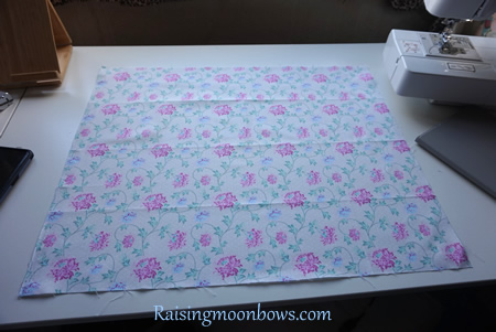 How to make a quick and easy pouch liner for a phone or tablet step 1