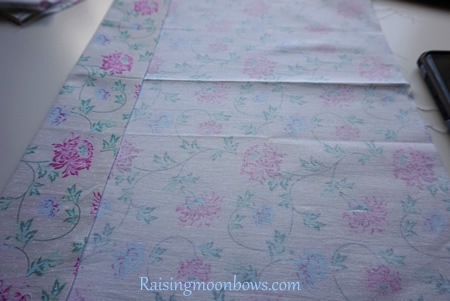 How to make a quick and easy pouch liner for a phone or tablet step 5