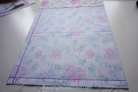 How to make a quick and easy pouch liner for a phone or tablet step 6