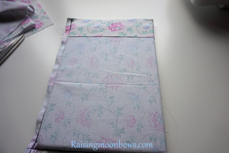 How to make a quick and easy pouch liner for a phone or tablet step 7