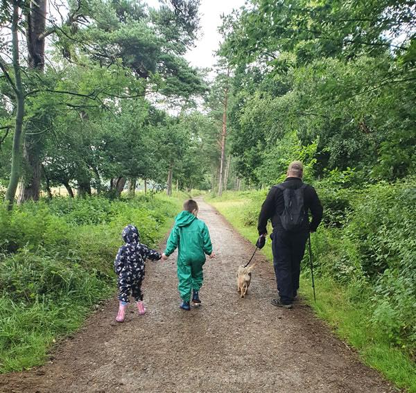 Track besides Pexton Moor Campsite