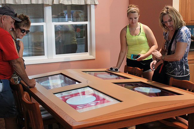 Build your own meal on the interactive/digital dining table.