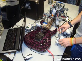 A LEGO robot that plays the guitar