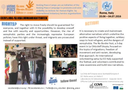 Click to see: Raising Peace Camp in La Città dell'Utopia