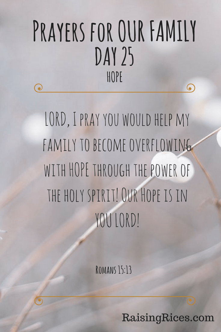 Prayers for OUR FAMILY - DAY 25-2