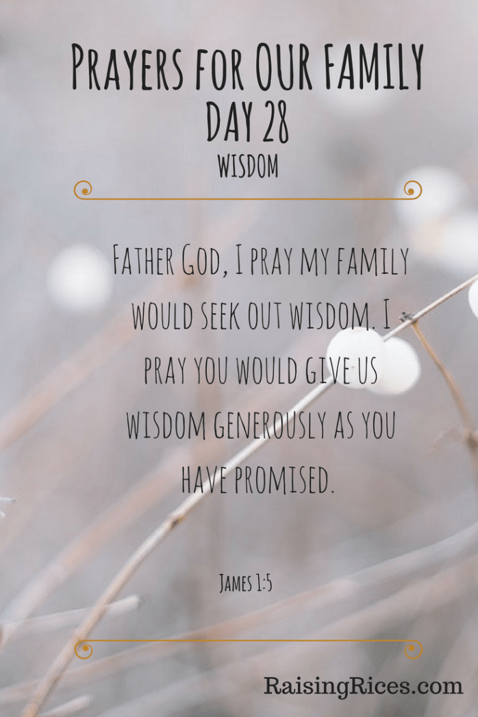 Prayers for OUR FAMILY - DAY 28-2