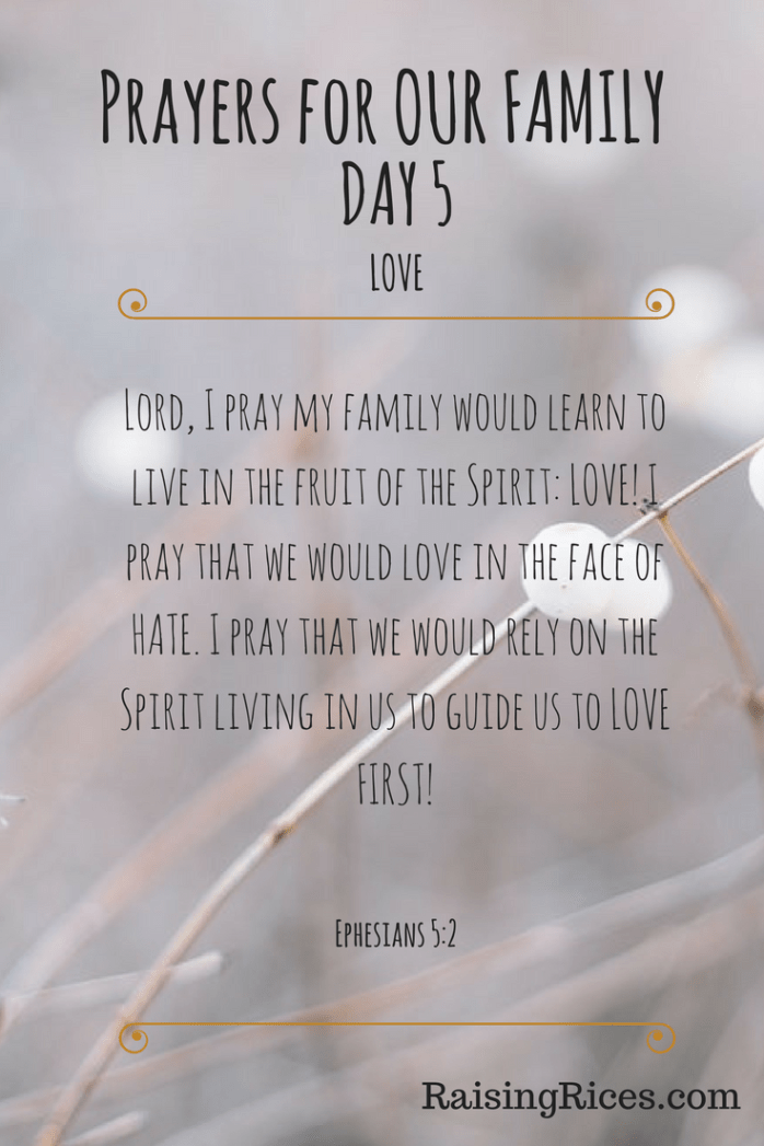 Prayers for OUR FAMILY - DAY 5