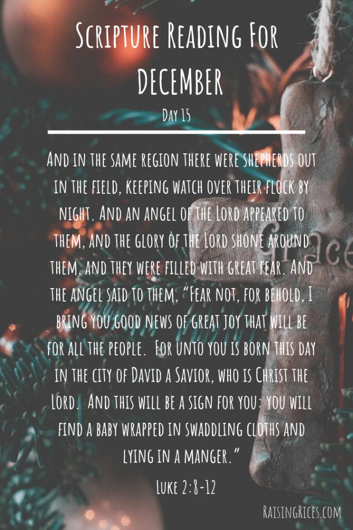 Scripture Reading For DECEMBER 15