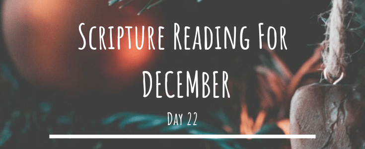 December Scripture Reading – Day 22