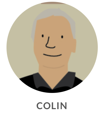 Drawing of Colin
