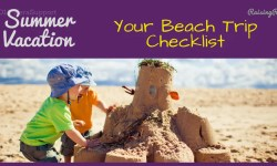Summer vacation beach trip checklist