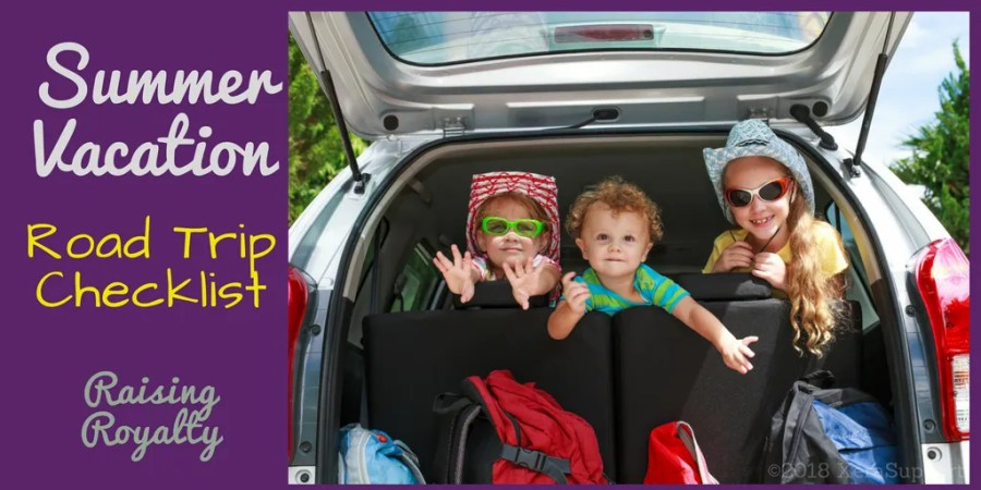 Use a Road Trip Checklist to make travel with kids easy!