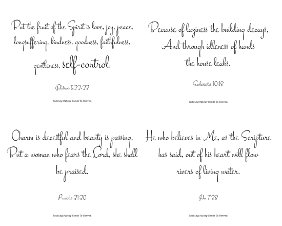 Scriptures To Encourage Healthy Living (With Free Printable)