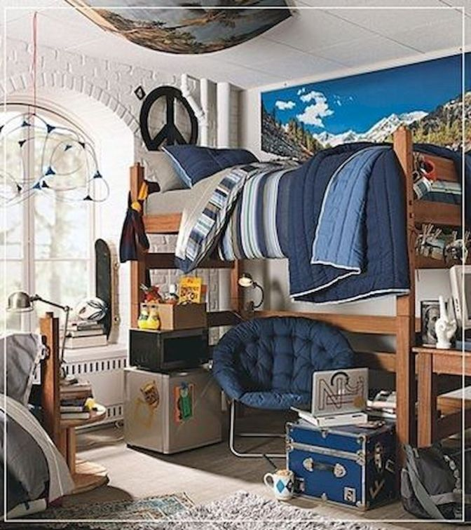 25 Cool Dorm Rooms That Will Get You Totally Psyched For ... on Cool Bedroom Ideas For Guys Small Rooms  id=13934